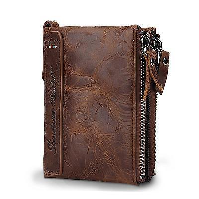 Showtime Mens Wallet Vintage Cowboy Horsehide Leather Bifold Purse Coin Wallets