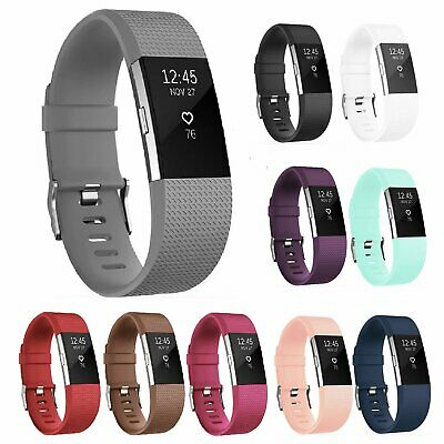 Replacement Silicone Classic Wrist Watch Band For Fitbit CHARGE 2 Strap Bracelet Fit Tech Parts