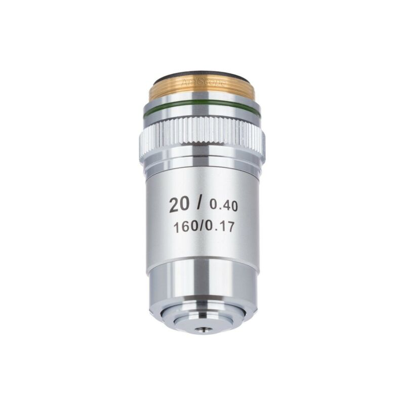 AmScope 20X Achromatic Microscope Objective for Compound Microscope