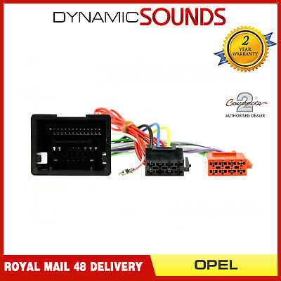 CT20OP01 ISO Wiring Harness Adaptor Loom for Opel Astra J, Insignia, Meriva B