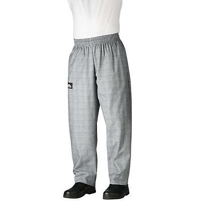 New Chefwear Mens Ultimate 100 Cotton Baggy Chef Pants Grey Glen Plaid Xs-5xl