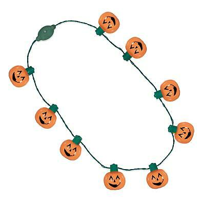 Windy City Novelties LED Light Up Halloween Pumpkin Jack O Lantern Necklace - City Novelties