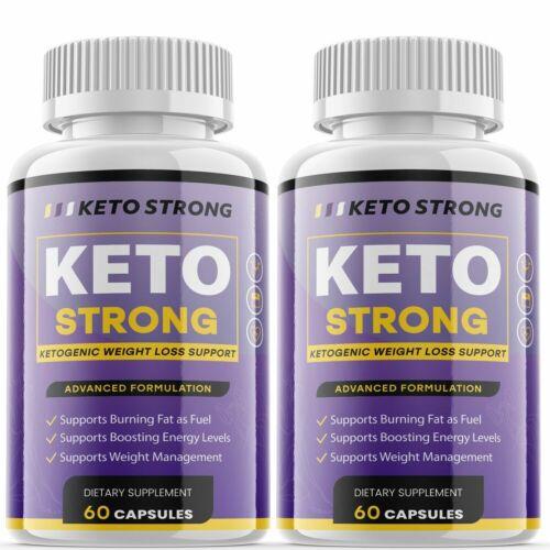 2 PACK Keto Strong Keto BHB Pill Advanced Formula Keto Pills