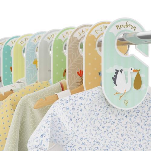 Baby Closet Dividers - 18 wardrobe organisers / hangers - Arrange clothes by gar