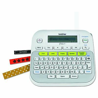 Portable Label Maker Machine Printer One-touch Keys Multiple Fonts Symbols Frame