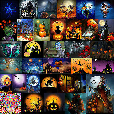 Home Diy Halloween (Halloween Theme Series 5D Diamond Painting DIY Craft Home Decor Kids Gifts)