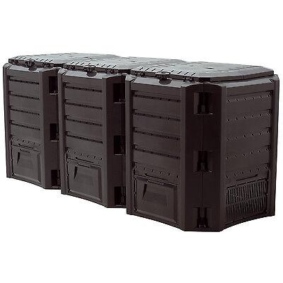 Schnellkomposter 1200 Liter Gartenkomposter Thermokomposter Kunststoff Komposter
