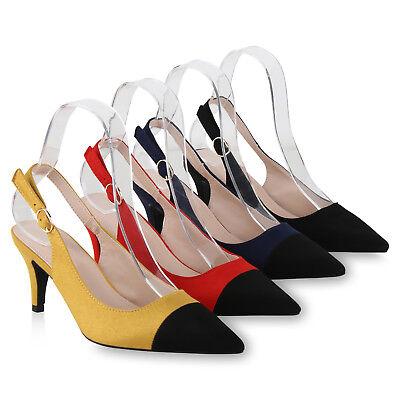 Damen Abiball Slingpumps Slingback Pumps Mid Heel Absatzschuhe 826230 Schuhe Damen Slingback Schuh
