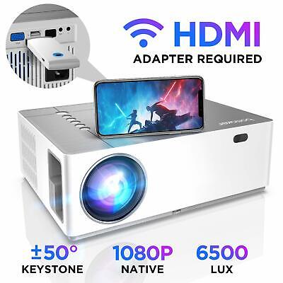Projector, BOMAKER 6000 Lux Native 1080P Full HD Video Projector, ±50° Digital &