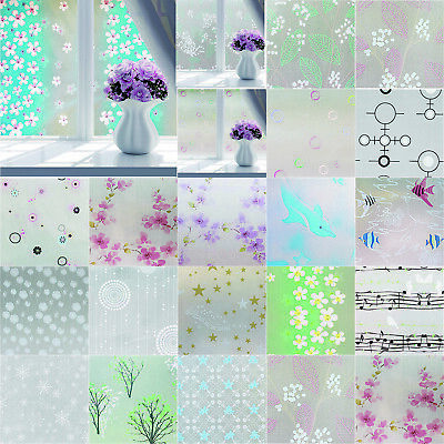 3D Static Cling Cover Frosted Window Glass Film DIY Sticker Privacy Decor Decals Frosted Glass Window Film