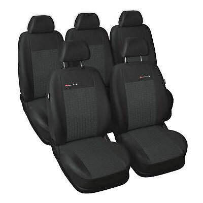 Premium Kunstleder Sitzbezüge Sitzbezug Schonbezüge für Citroen C5 Schwarz Set