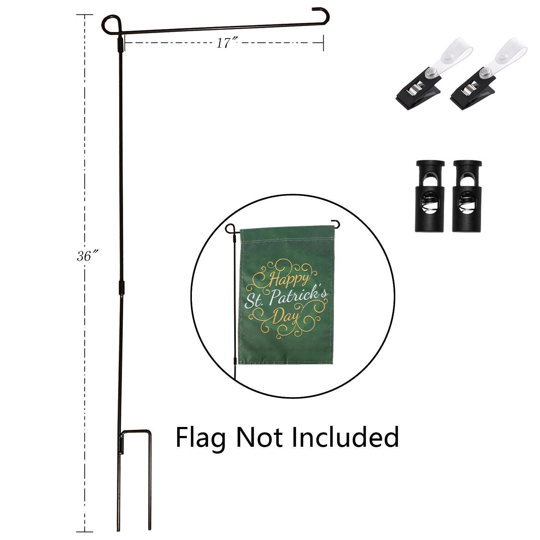 Mini Flag Banner Yard Flag Stand Pole Holder Outdoor Garden