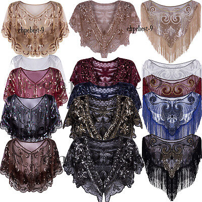 Christmas Evening Shawl Wraps 20s Wedding Gown 1920s Flapper Dresses Accessories ()