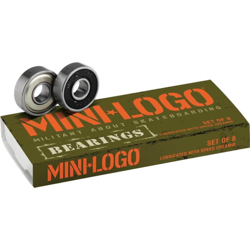 Mini Logo  8mm Skateboard Bearings - ABEC 3