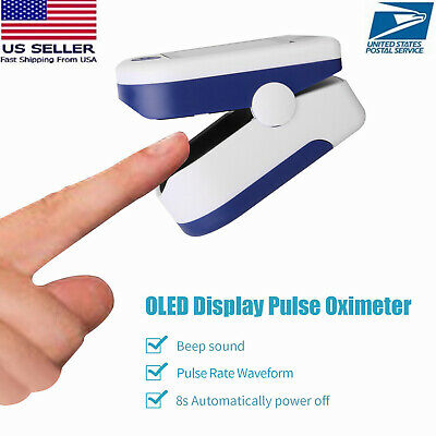 Finger Pulse Oximeter Blood Oxygen Saturation Spo2 Meter Sensor Monitor Us Stock