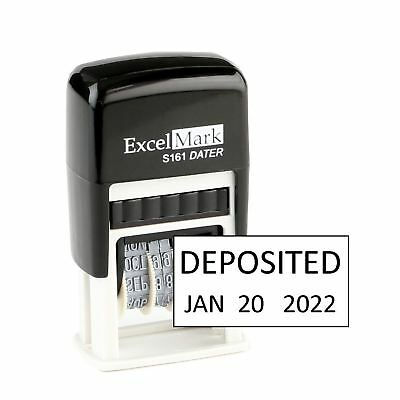 Deposited - Excelmark Self Inking Date Stamp S161 - Compact Size Black Ink