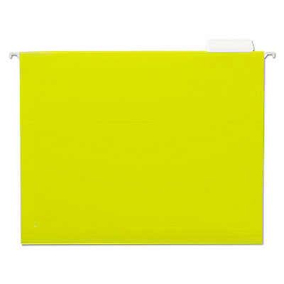 Universal Hanging File Folders 15 Tab 11 Point Stock Letter Yellow 25box 14119