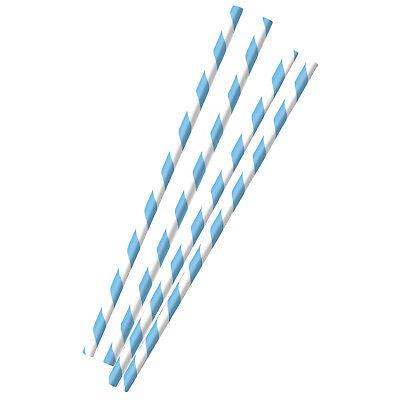 12 blau weiße Party Strohhalme Trinkhalme Oktoberfest Papier Tisch Dekoration