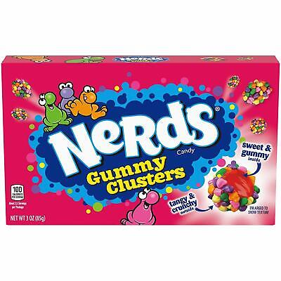 Nerds Gummy Clusters Rainbow Candy Theater Box 85g X 6 Pack