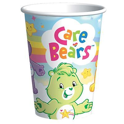 Care Bear Party Supplies ( CARE BEARS 8 ct-PAPER CUPS 9 FL. OZ. -BIRTHDAY- PARTY SUPPLIES)