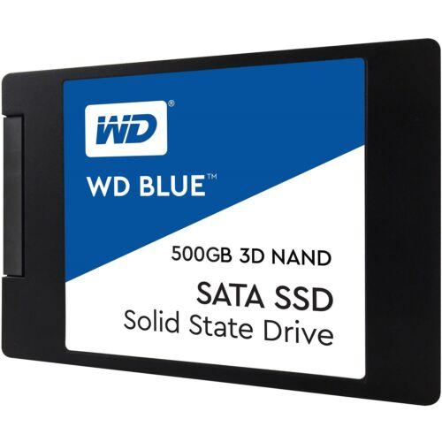 WD BLUE 3D 500GB NAND SATA 2.5â 7mm SSD - WDS500G2B0A