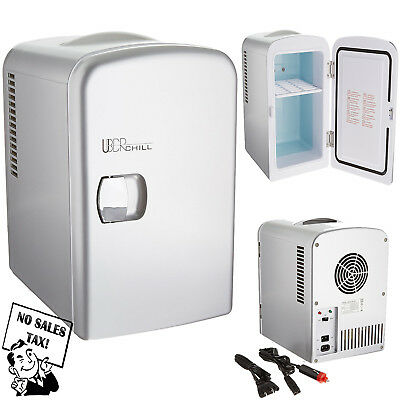 Compact Small Compact Fridge Refrigerator Cooler & Warmer Dorm Bedroom Travel