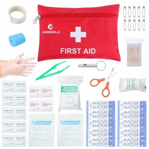 Small Travel First Aid Kit - 76 Piece Clean, Treat and Protect Most Injuries