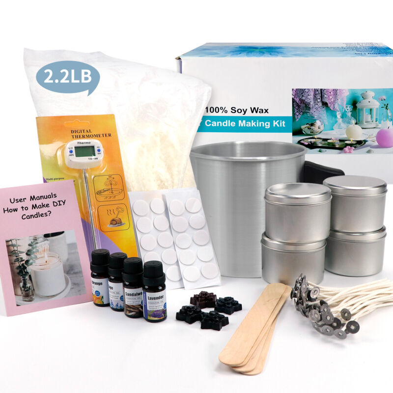 Candle Making Kit – Candle Soy Wax Kit Include Wax, Rich Scents, Dyes, Wicks