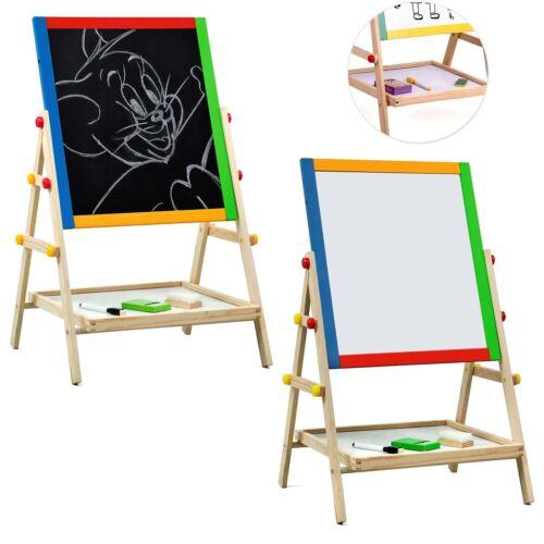 Wooden Kids Easel 2 In 1 Blackboard Whiteboard Drawing Writing Chalk Board Uk 3