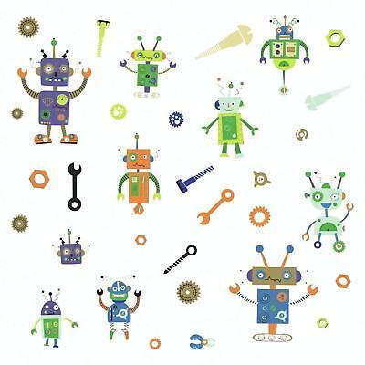 ROBOTS Wall Decals Science Robotics Room Decor Stickers Bedroom ROOMMATES New - Science Decor