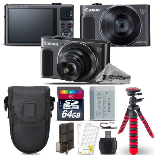 Canon PowerShot SX620 HS Digital Camera Black + Spider Tripo