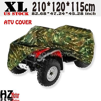 XL Camo Waterproof ATV Quad Bike Cover Fit Yamaha Grizzly 125 300 350 450 550 for sale  USA