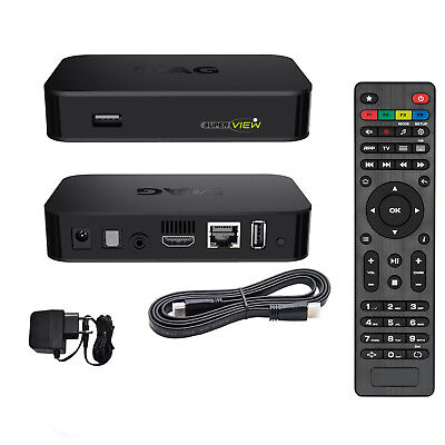 MAG 256 Genuine Original Infomir IPTV/OTT Box, Faster than MAG 254 EU Plug