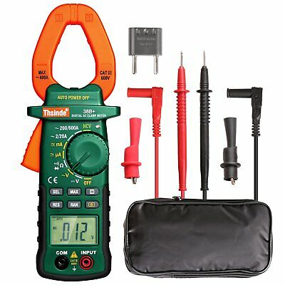 Digital Clamp Meter Multimeter Tester Acdc Volt Amp Rms Auto Ranging - Thsinde
