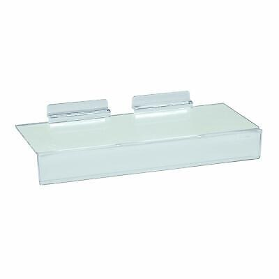 Slatwall Flat Clear Acrylic Shoe Shelf 4 X 10 W 1.25 H Sign Holding Slot