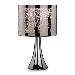 chrome tree scene dimmer touch light table desk lamp bedside bedroom. Black Bedroom Furniture Sets. Home Design Ideas
