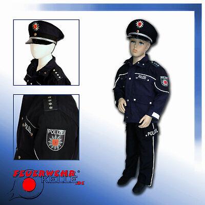 POLIZEI  Kostüm Faschingskostüm Karnevalskostüm Kinder blaue - Blaue Mütze Kostüm