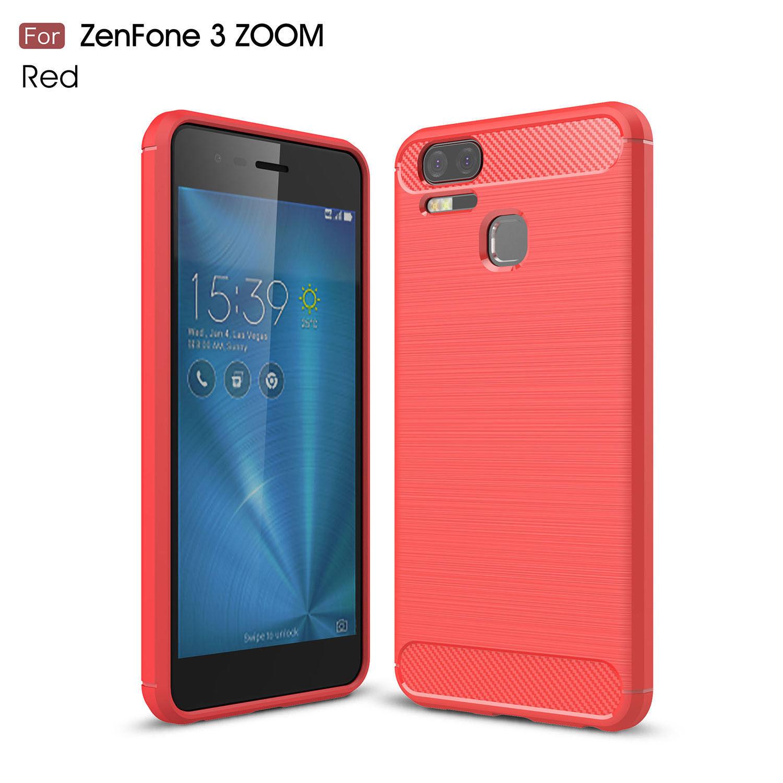 cc5b57d31 Hybrid Armor Carbon Fiber Brush Soft Cover Case For Asus Zenfone 3 Zenfone 4  MAX