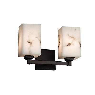 Justice Design Group LumenAria FAL-8432-15 Bathroom Vanity Light Dark Bronze (Lumenaria Bathroom Light)