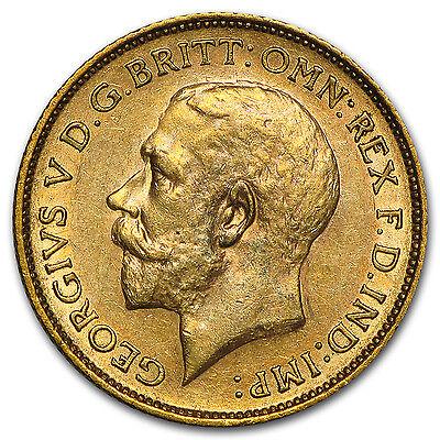 1911-1931-S Australia Gold Sovereign George V AU - SKU #45004