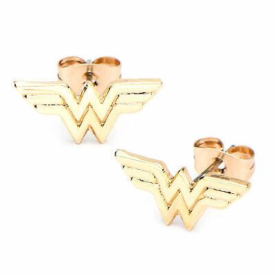 DC Comics Wonder Woman Stainless Steel Stud (Wonder Woman Stud Earrings)