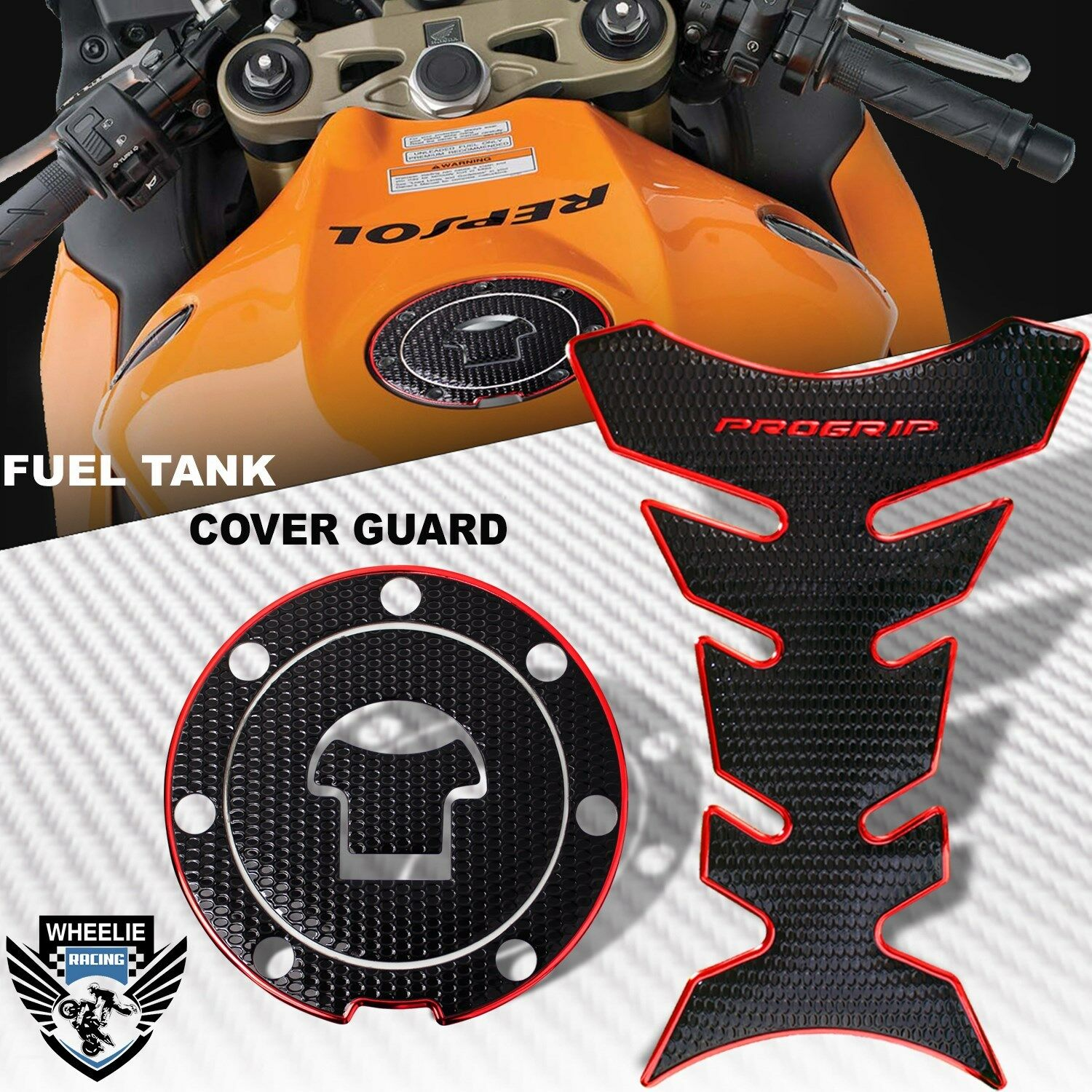 Motorcycle Gas Fuel Tank Pad Protector ProGrip Shipped from USA