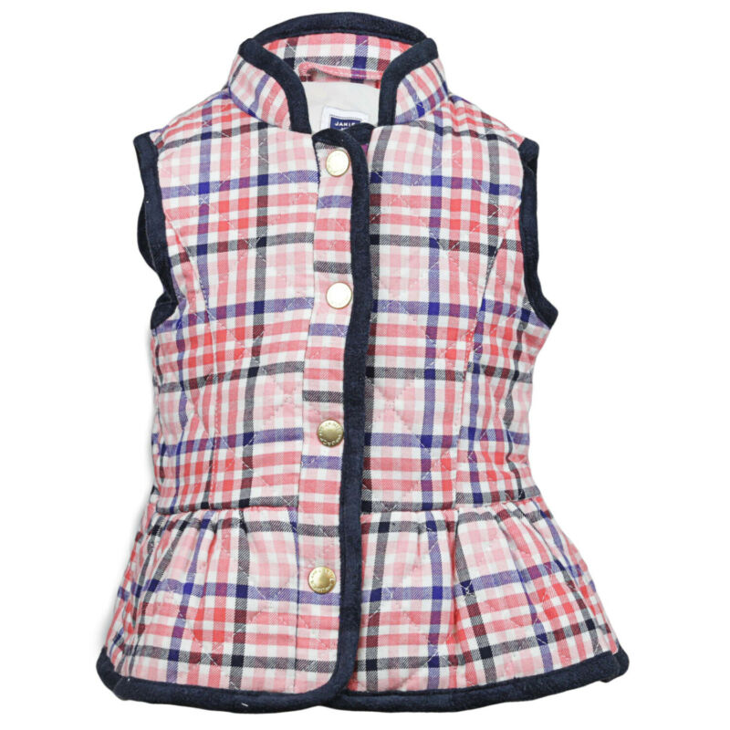 Janie And Jack Quilted Plaid Vest