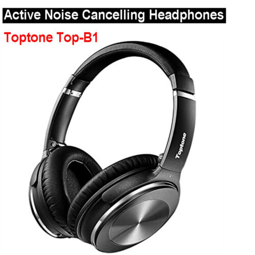 Active Noise Cancelling Headphones Foldable Wireless Bluetooth Over Ear Stereo