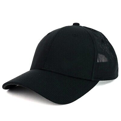UPF 50+ Screen Fabric Low Profile Mesh Flex Fitted Golf Cap - FREE SHIPPING Cloth Low Profile Cap