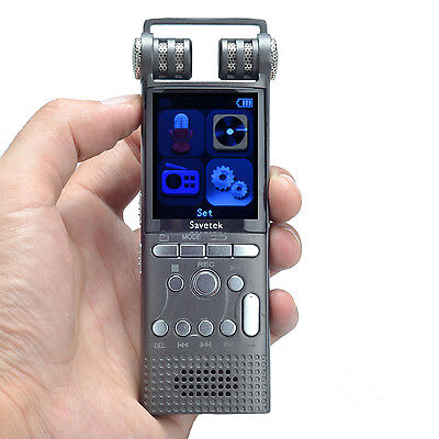 Professional Voice Activated 16GB Digital Voice Recorder PCM Recording 1536Kbps