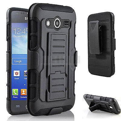 Rugged Rubber Hybrid Case Hard Cover Holster For Samsung Galaxy Avant G386t