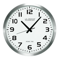 WT-3161WH La Crosse Technology 16 Atomic Analog Wall Clock - White Refurbished