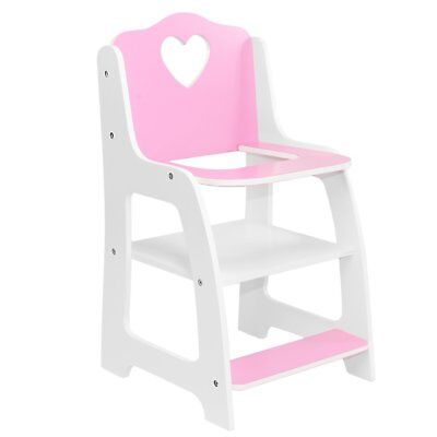 """Doll High Chair Furniture For American Girl & Other 18"""" Inch Dolls Accessories"""