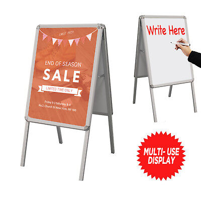 A-FRAME SIDEWALK SIGN STAND DOUBLE SIDED POSTER & DRY ERASE BOARD](Dry Erase Poster Board)
